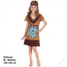 Dětský karnevalový kostým INDIÁNKA RYBANA 120 -130cm ( 5 - 9 let.)